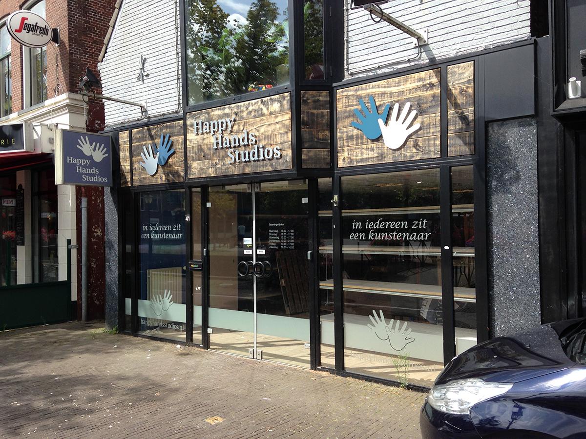 aankleding pand happy hands studios heerenveen