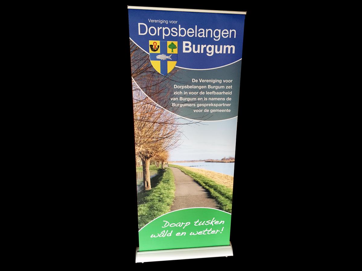 Rollup banner voor Dorpsbelangen Burgum Friesland