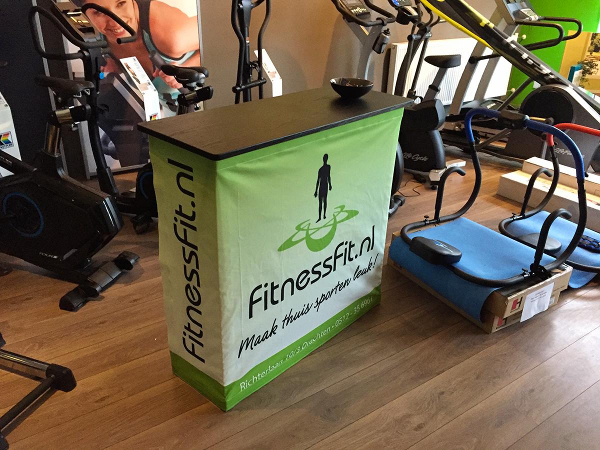 fitnessfit beurs balie opvouwbaar drachten friesland