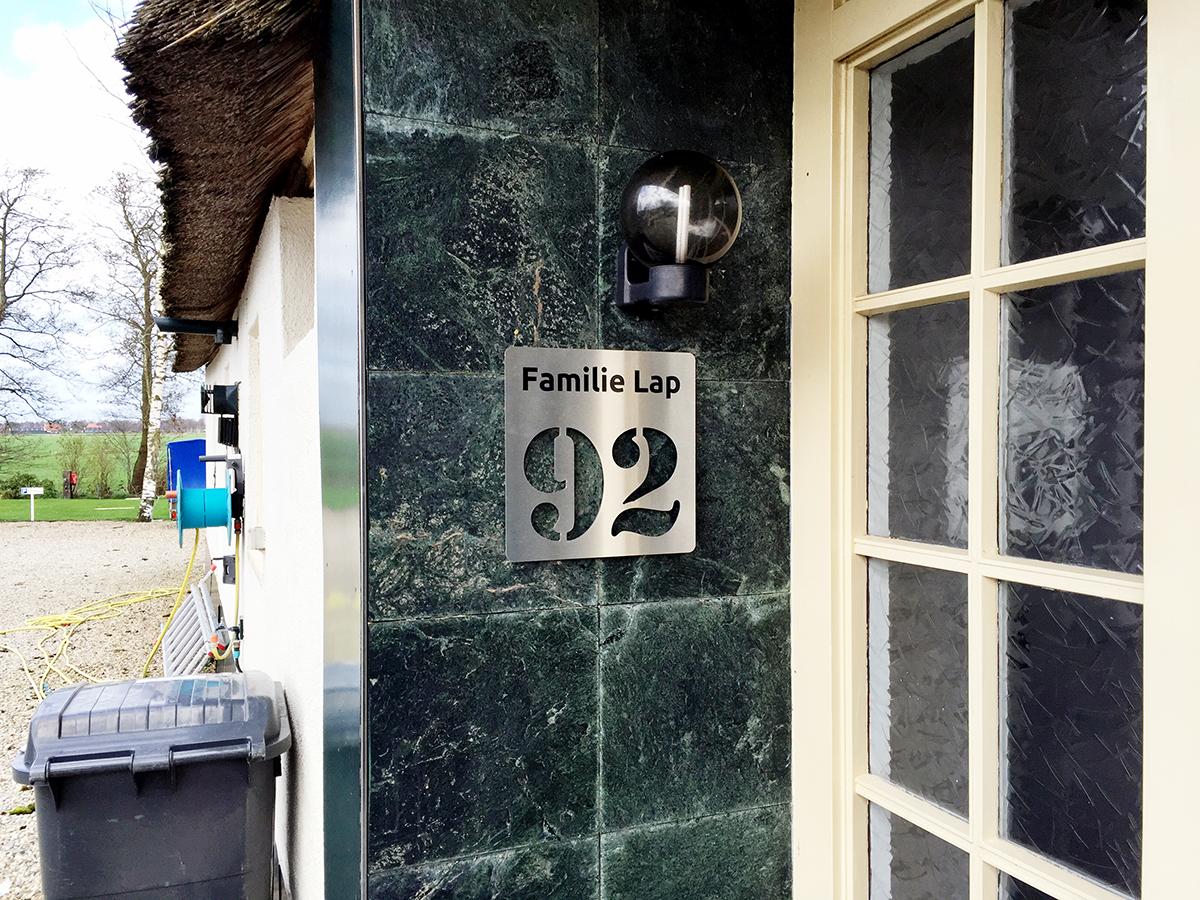 rvs look naambord met huisnummer foveo nij beetsfriesland