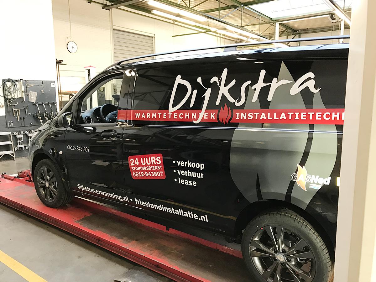 Auto Reclame Belettering Stickers Mercedes Vito Dijkstra