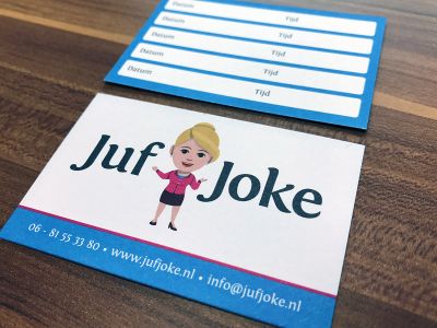 adres-visitekaartjes-juf-joke-burgum-friesland