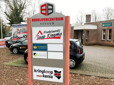 sticker-folie-belettering-zuil-overbosch-financieel-advies-burgum-friesland