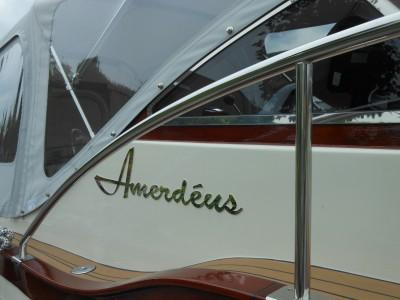 3mm RVS spiegel amer cruiser naam boot Amerdeus