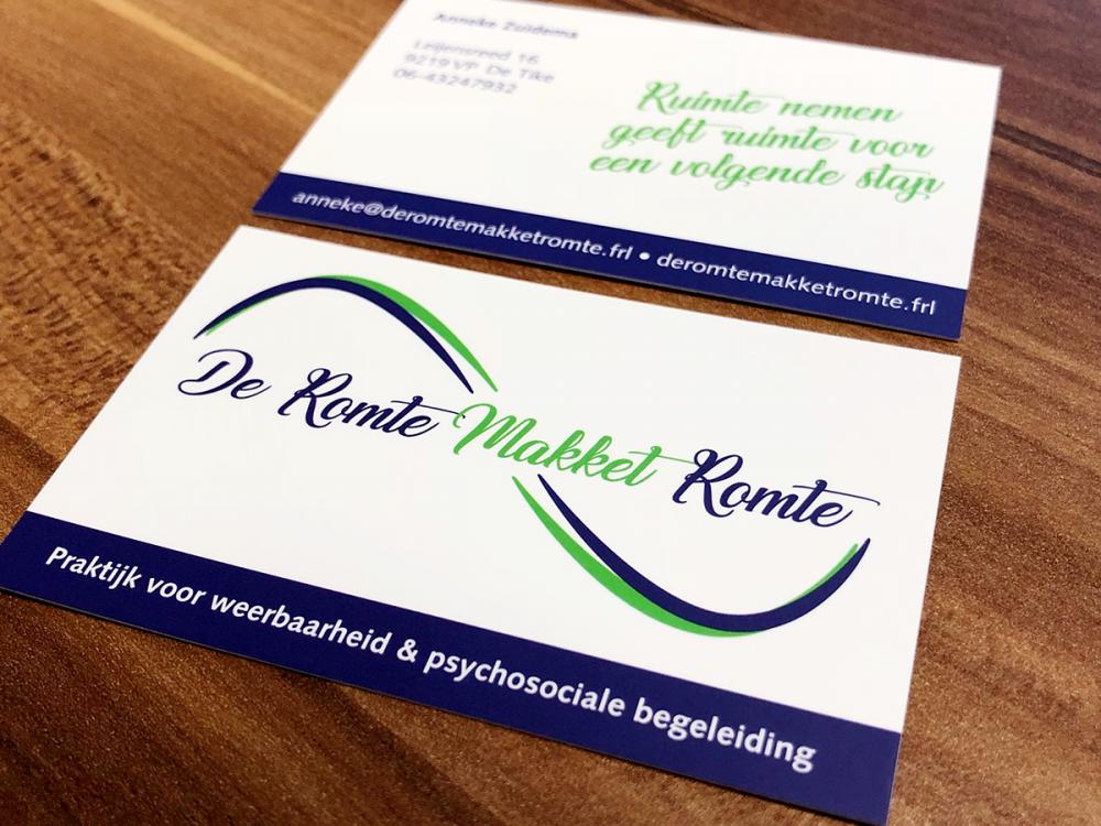 drukwerk-visitekaartje-huisstijl-ontwerp-logo-mat-laminaat-dubbelzijdig-de-romte-makket-romte-de-tike-friesland
