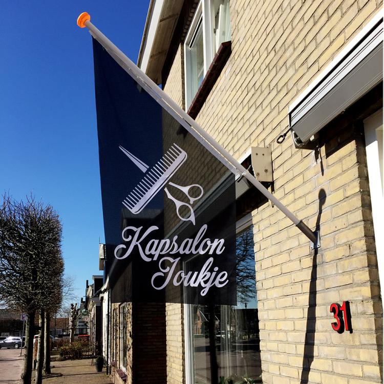 kioskvlag-longlife-doek-kapsalon-joukje-eastermar-friesland