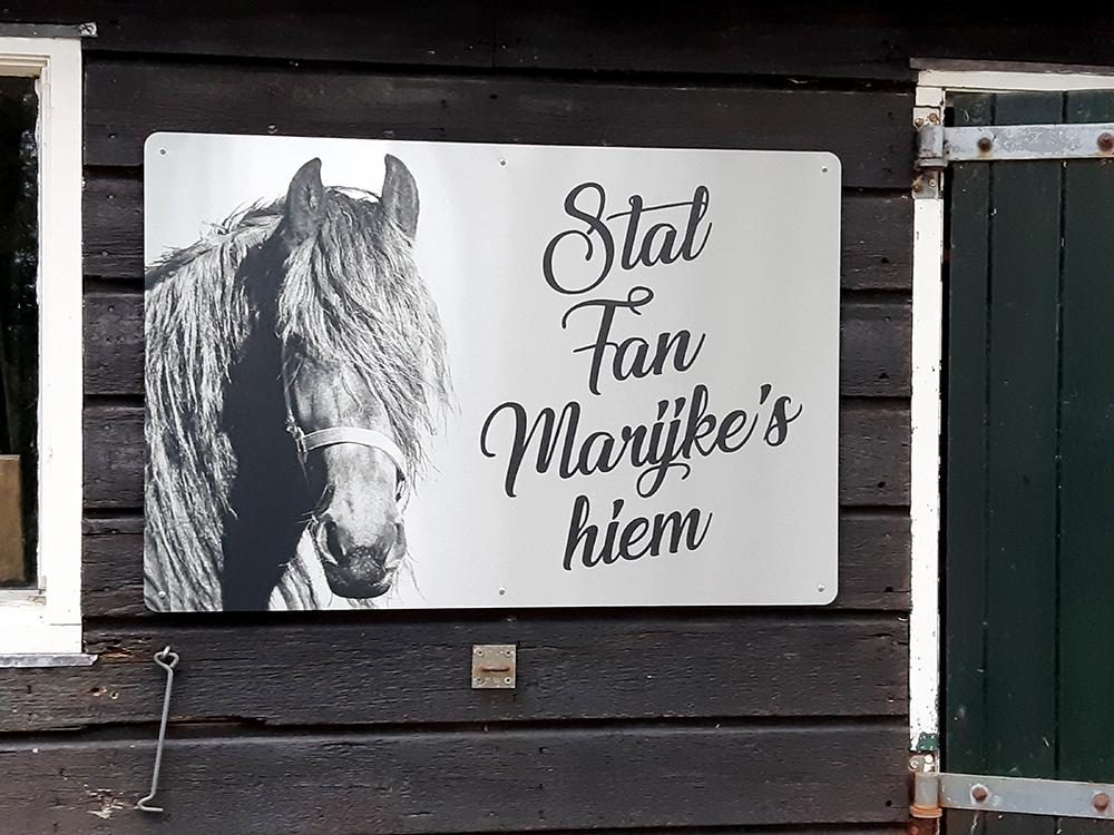 RVS-look-bord-met-foto-paard-en-naam-stal-Gorredijk-Friesland
