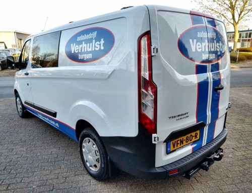 reclame-belettering-logo-sticker-striping-ford-transit-connect-autobedrijf-verhulst-burgum-friesland