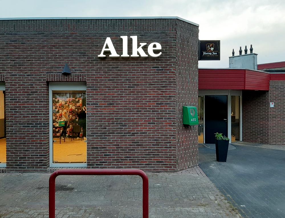 verlichte-doos-reclame-letters-LED-lichtreclame-dorpshuis-de-alke-alteveer-Drenthe-Friesland